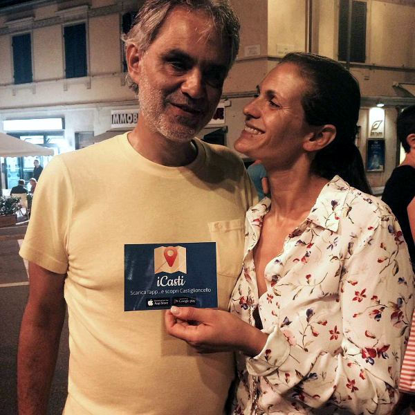 Andrea Bocelli and his wife